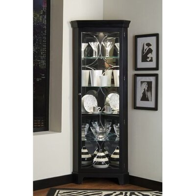 Awesome Nyo Lighted Corner Curio Cabinet