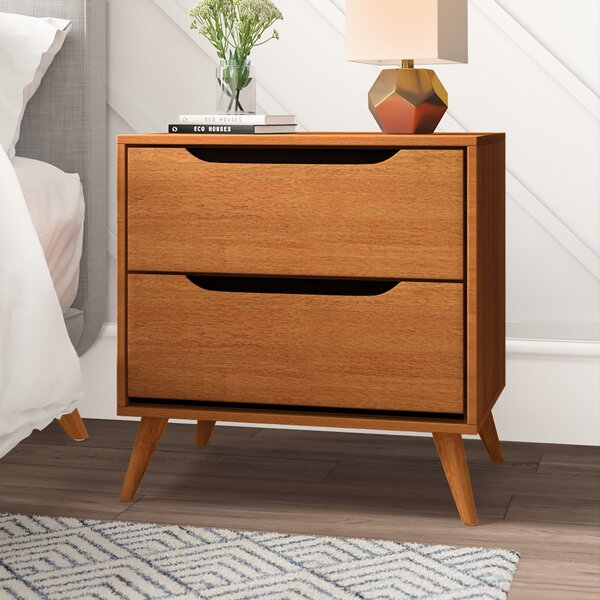 Goree 2 Drawer Nightstand by Mercury Row