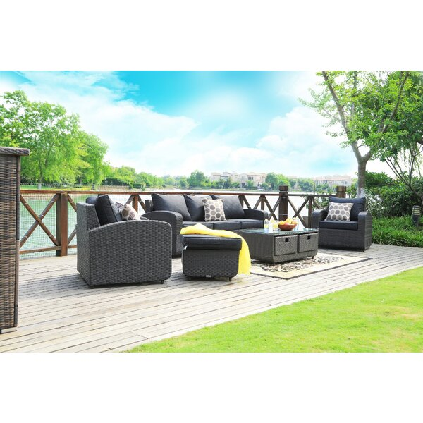 Ovellette 5 Piece Sofa Seating Group Set with Cushions by Brayden Studio