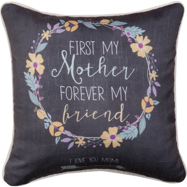Mother First Dye Throw Pillow by Manual Woodworkers & Weavers