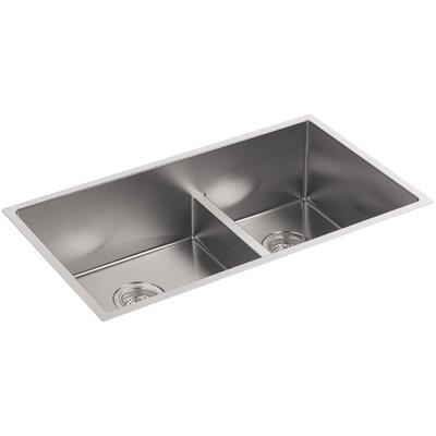 Kitchen Sink Under Mount Large Medium Double Bowl Basin Rack 500 Product Photo