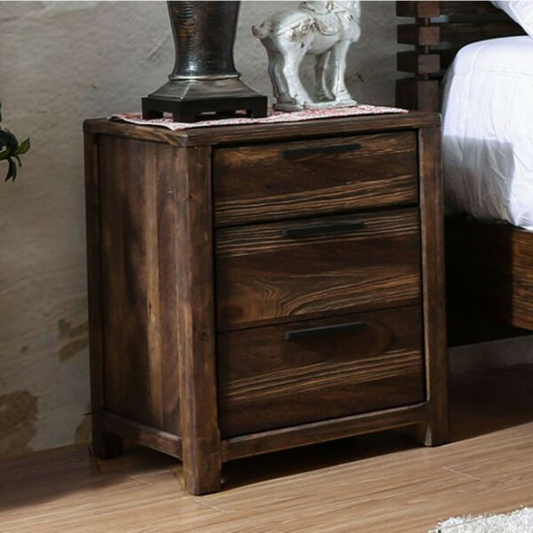 Serafina 3 Drawer Nightstand by 17 Stories