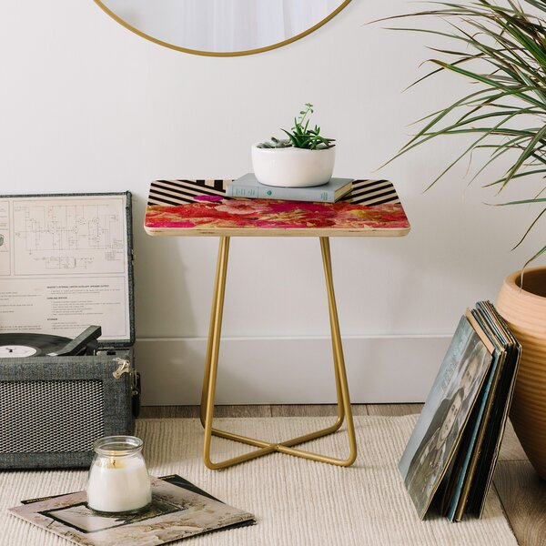 Bianca Floraline End Table by East Urban Home