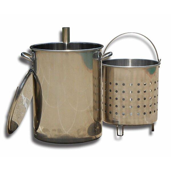 King Kooker 30 Quart Stainless Steel Turkey Skewer Pot with Basket & Lid for 86PKT by King Kooker