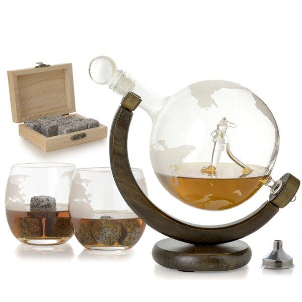 Rossetti Airplane Globe 3 Piece Beverage Serving Set by Loon Peak
