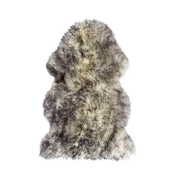 Handmade Gradient Grey Sheepskin Area Rug by Natural Rugs