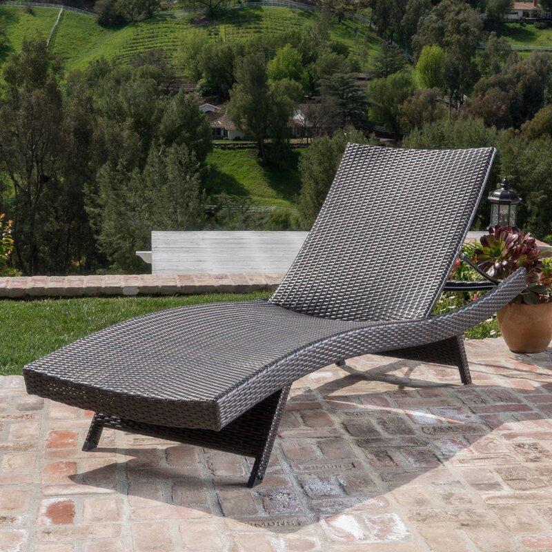 Mercury Row Athanasius Reclining Adjustable Chaise Lounge
