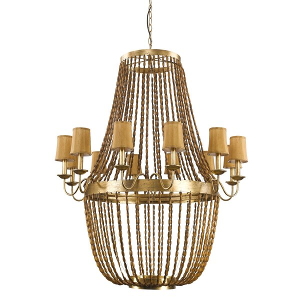 Marcia 12-Light Shaded Empire Chandelier By Rosdorf Park