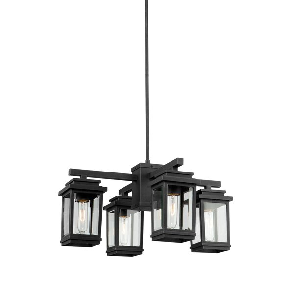 Chatteris 4-Light Shaded Square / Rectangle Chandelier by August Grove August Grove