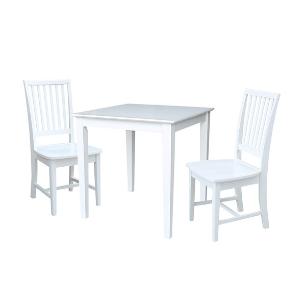 Crofoot 3 Piece Solid Wood Dining Set by Rosecliff Heights