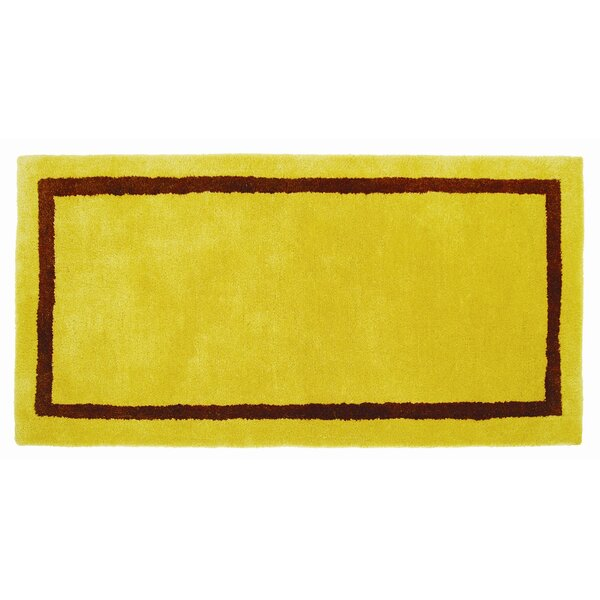 Hearth I Handmade Wool Yellow Area Rug by Minuteman International