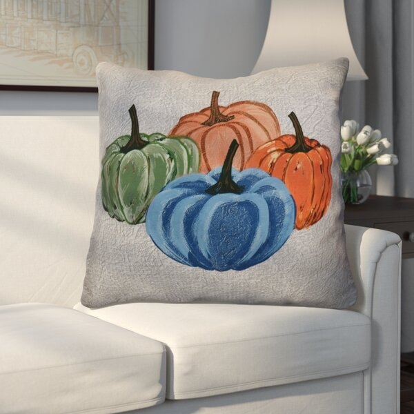 Miller Paper Mache Pumpkins Geometric Euro Pillow by Alcott Hill