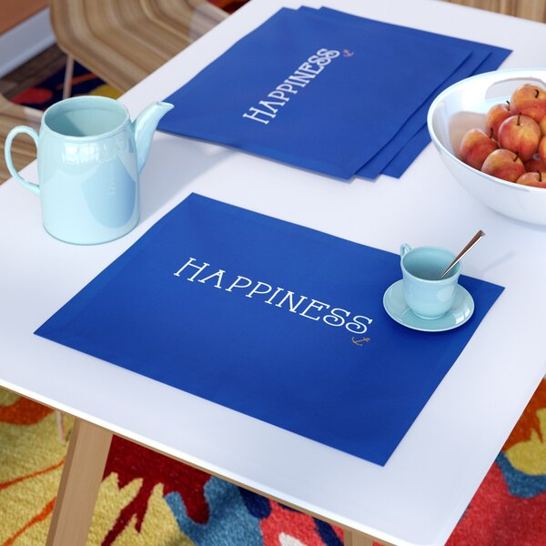 GrangeoverSands Nautical Happiness Print Placemat (Set of 4) by Latitude Run