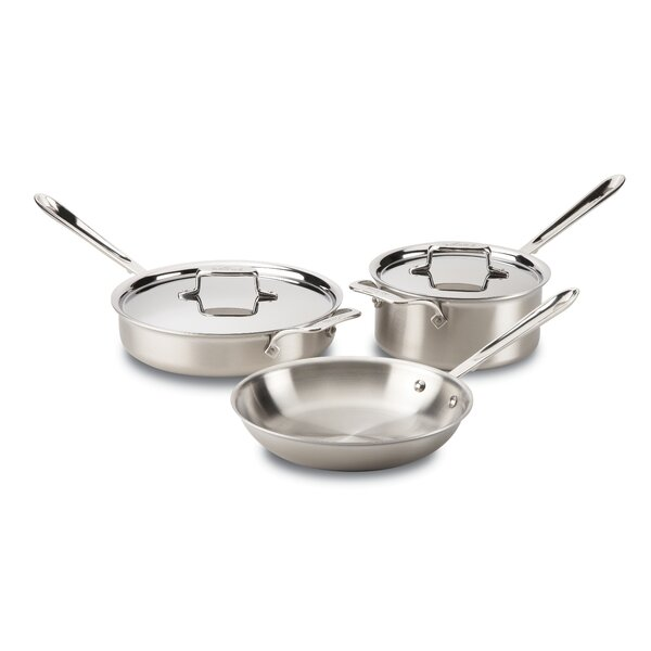 Stainless Steel 5 Piece Cookware Set by All-Clad