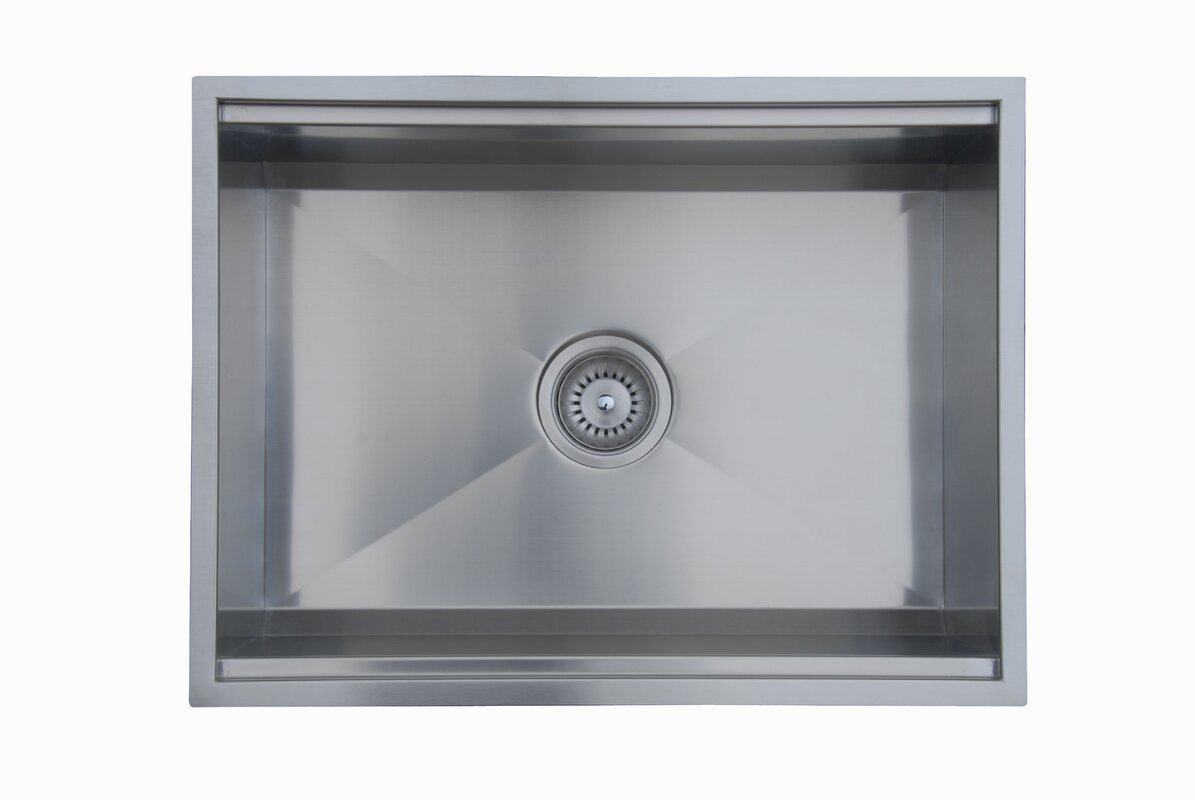nantucket steel sinks in single drop kitchen inch sink dp stainless bowl