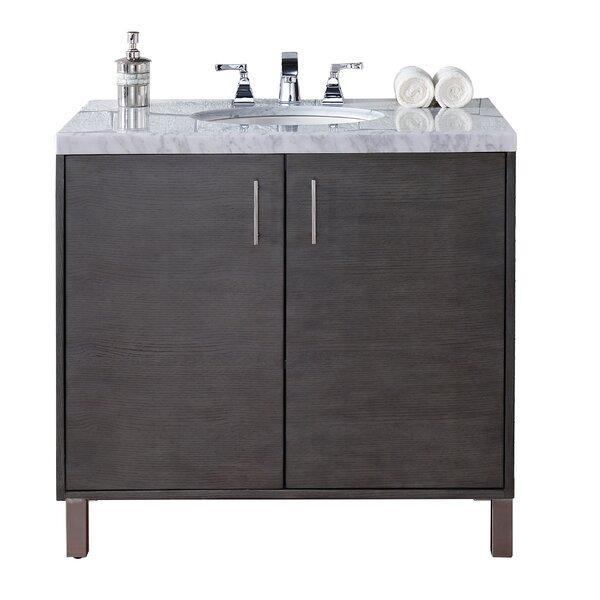 Cordie Modern 36 Single Silver Oak Bathroom Vanity Set by Orren Ellis