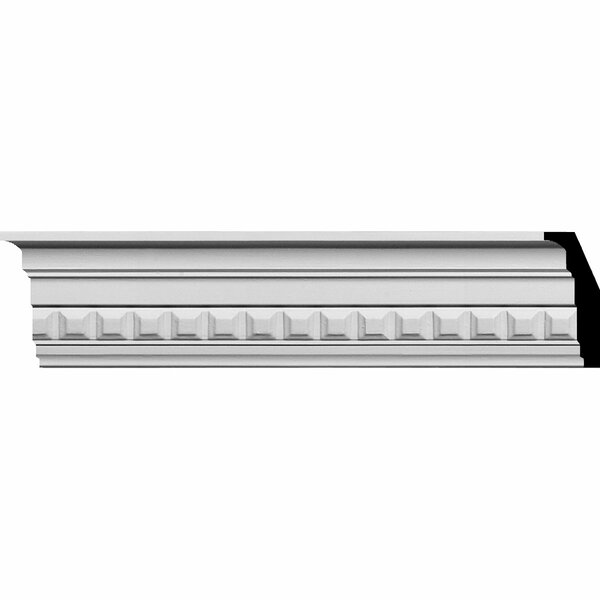Sequential 3 1/2H x 94 1/2W x 1 7/8D Crown Moulding by Ekena Millwork