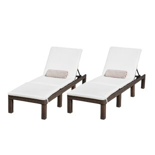 Emelda Reclining Chaise Lounge With Cushion (Set Of 2)