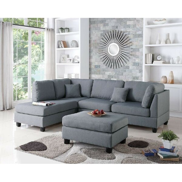 Bibler Reversible Sectional with Ottoman by Mercury Row