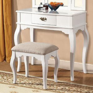 Maren White Vanity Set by A&J Homes Studio