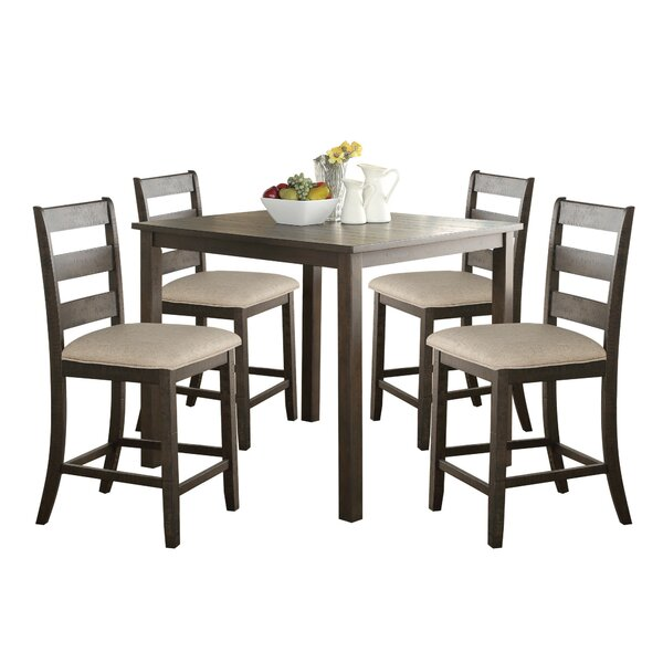 Gerke 5 Piece Counter Height Dining Set by Gracie Oaks