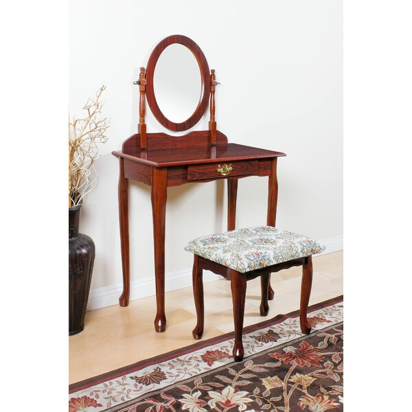 Edmonia Vanity Set with Mirror by Charlton Home