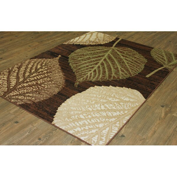 Gretchen Brown/Green Area Rug by Alcott Hill