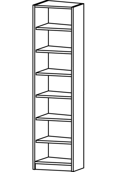 Angle Standard Bookcase by Jay-Cee Functional Furniture
