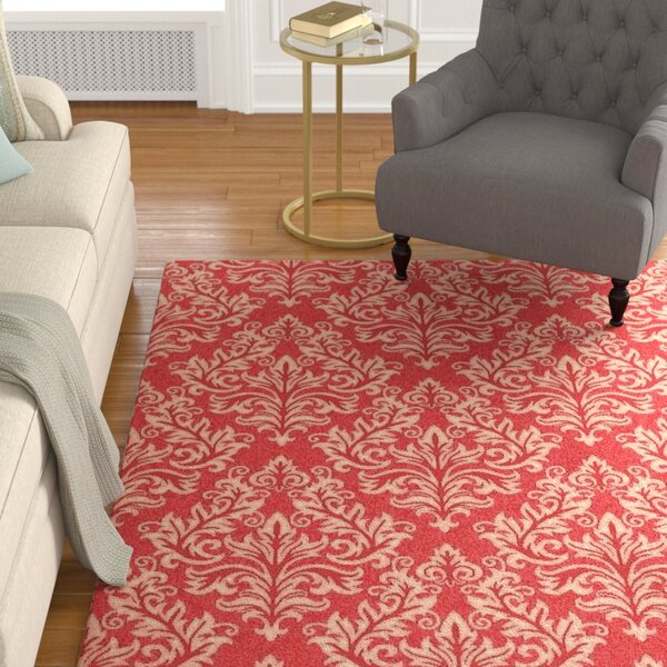Octavius Red / Creme Indoor / Outdoor Area Rug by Charlton Home