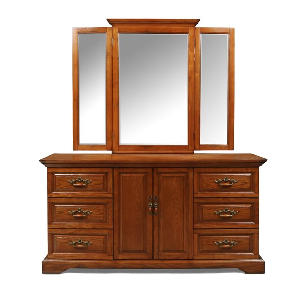 Geno 6 Drawer Combo Dresser with Mirror by Darby Home Co