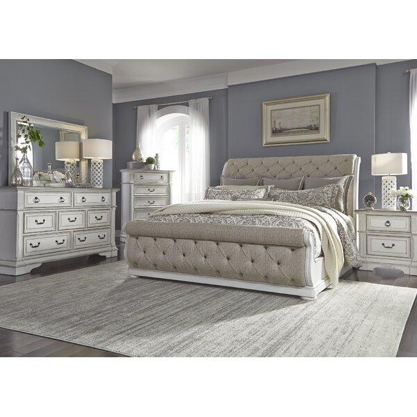 Ginyard Upholstered Sleigh Configurable Bedroom Set by Ophelia & Co.