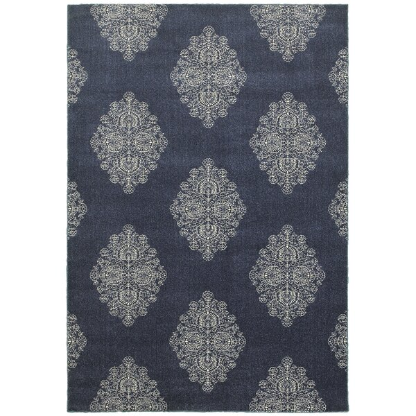 Darren Blue/Ivory Area Rug by Charlton Home