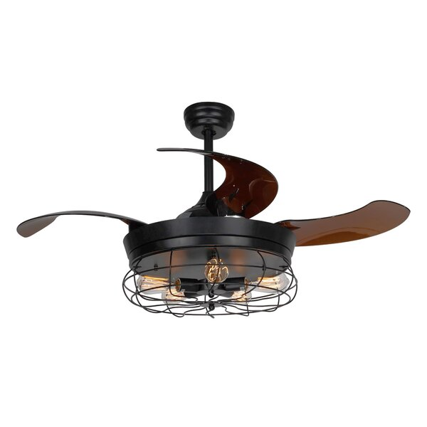 42.5 Benally 4 Blade Ceiling Fan with Remote by Williston Forge