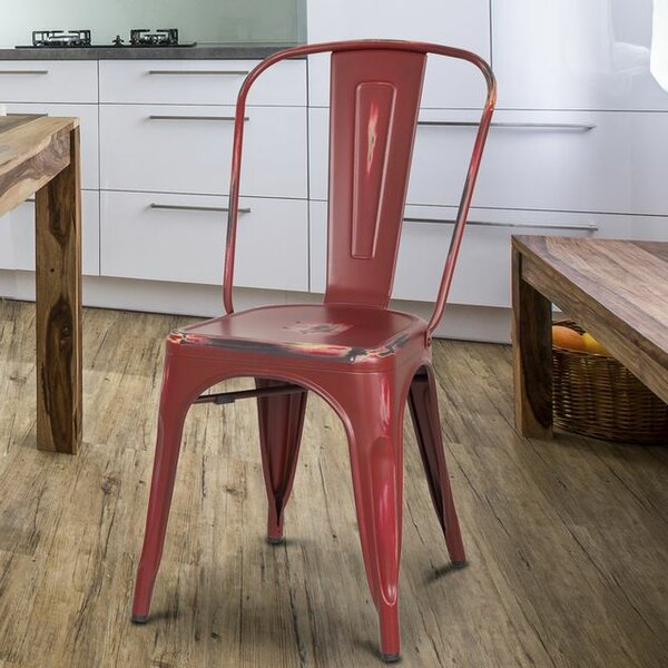 Metal Stacking Side Chair (Set of 2) by Homebeez