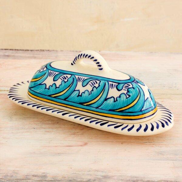 Lilyan Bebecke Covered Ceramic Butter Dish by Novica