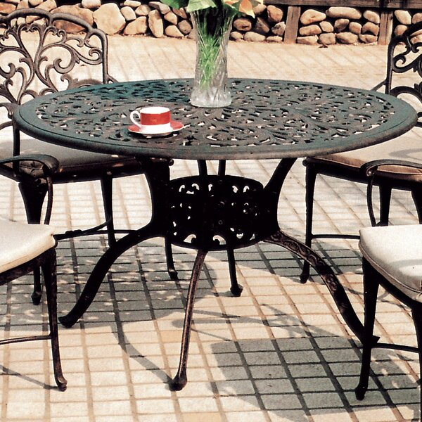 Fairmont Aluminum Dining Table by Astoria Grand