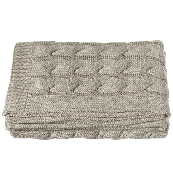 Imran Chunky Cable Knit Throw by Loon Peak