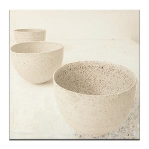 3 Zen Cups by Gill Cohn Framed Painting Print on Wrapped Canvas by Artist Lane