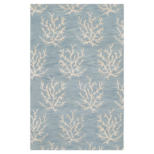 Escape Powder Blue Area Rug by Somerset Bay