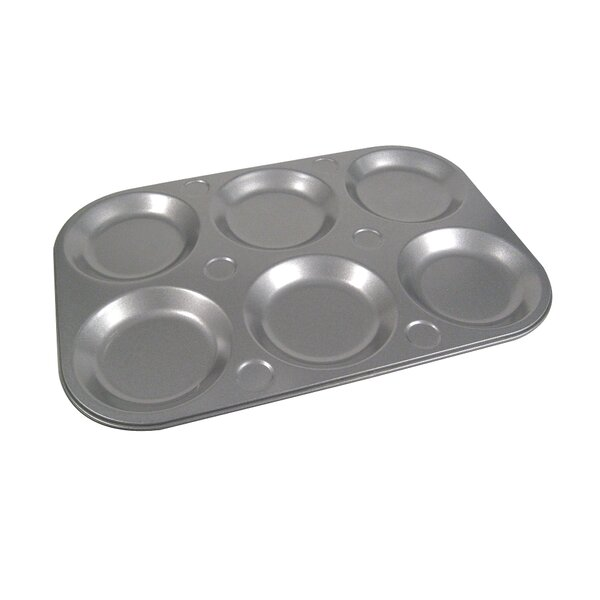 La Patisserie 6 Cup Non-Stick Top Muffin Pan (Set of 2) by MyCuisina