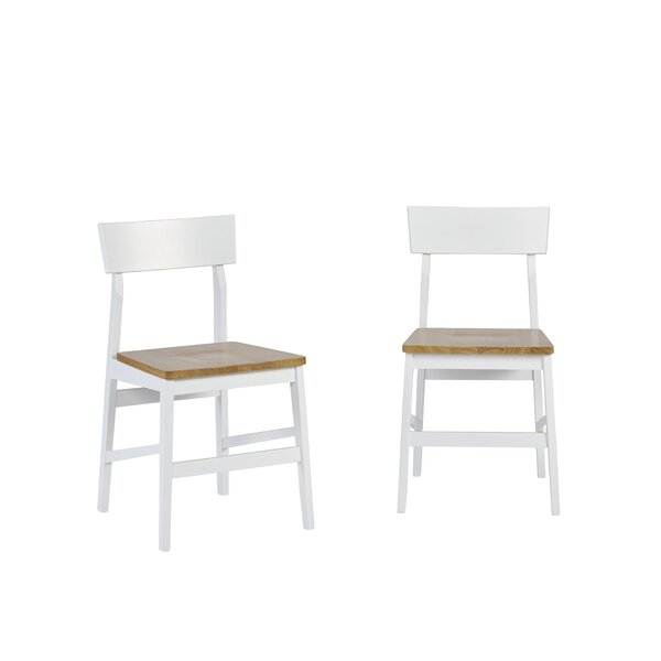 Finley Solid Wood Dining Chair (Set of 2) by Beachcrest Home