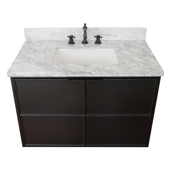 Elwes 37 Wall-Mounted Single Bathroom Vanity Set by Gracie Oaks