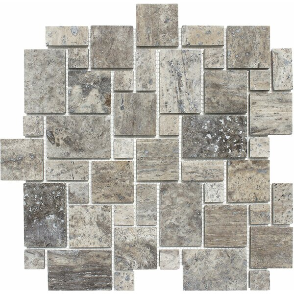 Mini Versailles Random Sized Stone Mosaic Tile in Silver by Parvatile
