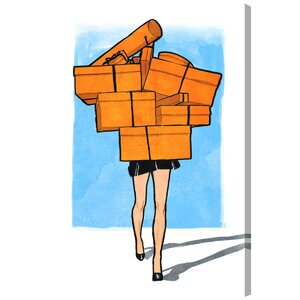 'Orange Box Overload' Painting Print on Wrapped Canvas by Oliver Gal