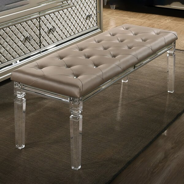 Ares Faux Leather Bench by Rosdorf Park