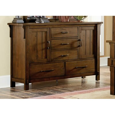 One Allium Way Yuliana Wooden 5 Drawer Double Dresser One Allium Way Color Oak Brown Dailymail