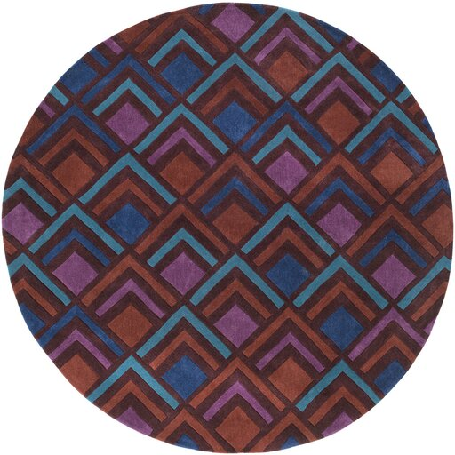 Mcgray Hand-Tufted Purple/Blue Area Rug by Brayden Studio