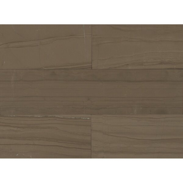 Marble 24 x 6 Stone Mosaic Field Honed Tile in Grey by Grayson Martin