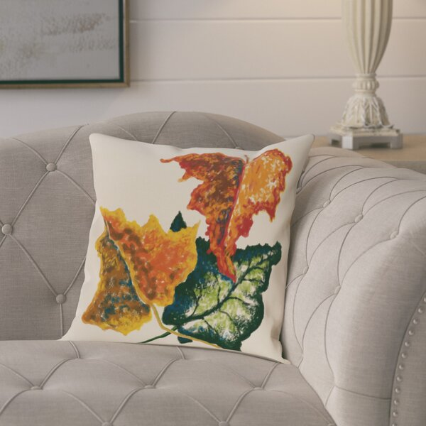 Maillett Autumn Colors Flower Print Throw Pillow by August Grove