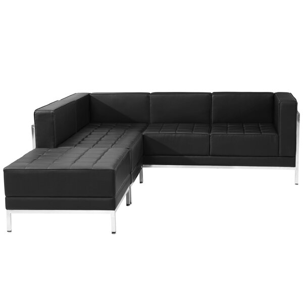 Bouffard Reversible Sectional With Ottoman By Orren Ellis